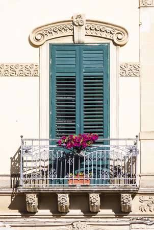 sicily: Old window from Sicily Stock Photo