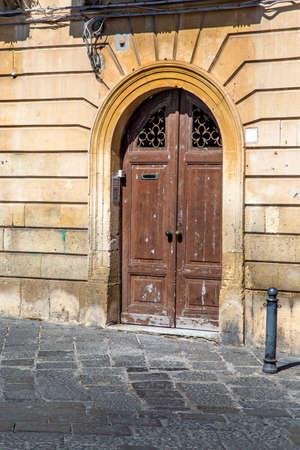 syracuse: Old door in Syracuse, Italy Stock Photo