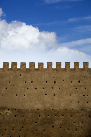 fez: Old city walls in Fez, Morocco Stock Photo