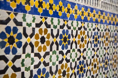 fez: Detail from the building in Fez, Morocco Stock Photo