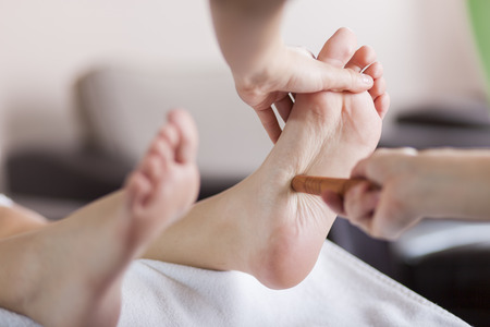 Reflexology foot massage photo