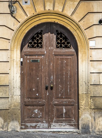 sicily: Door from Sicily Stock Photo