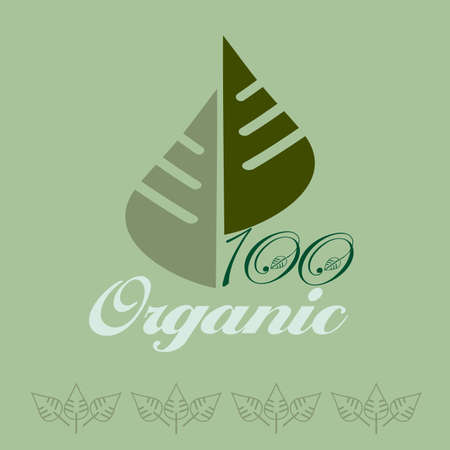 Vector illustrations of the organic concept Vector