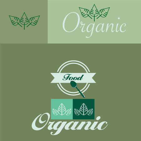 organic concept: Vector illustrations of the organic concept