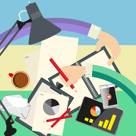 ilustration and painting: Vector illustrations of the business concept