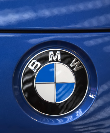 bmw: BELGRADE, SERBIA - MARCH 25, 2015: Detail of the BMW car in Belgrade, Serbia. BMW is a German automobile, motorcycle and engine manufacturing company founded in 1916.