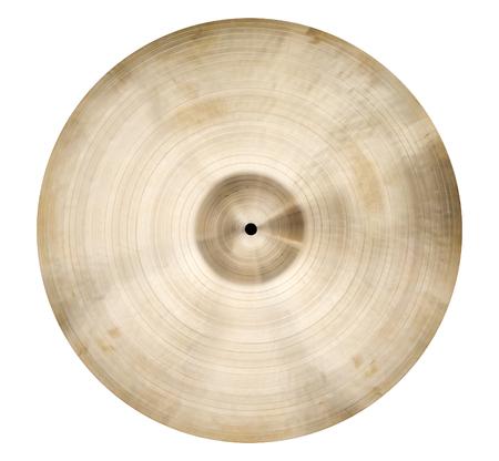 cymbal: Isolated single cymbal on white Stock Photo