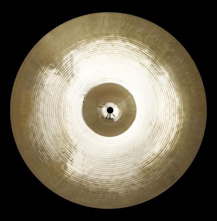 cymbal: Isolated single cymbal on black