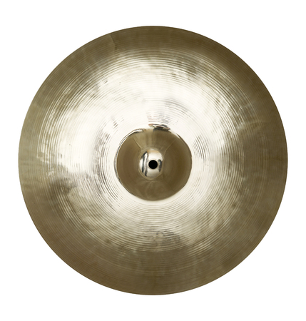 Isolated single cymbal on white Stock Photo
