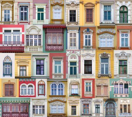 Windows from Timisoara, Romania