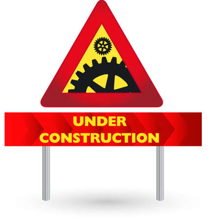 dangerous construction: Vector illustration of the warning sign