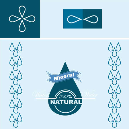 water concept: Vector illustration of the natural water concept