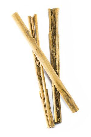 cinammon: Cinammon sticks isolated on white Stock Photo