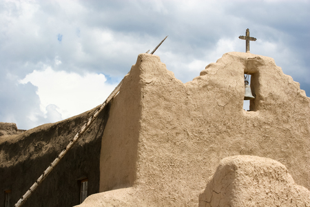 adobe pueblo: San Lorenzo de Picuris church in New Mexico