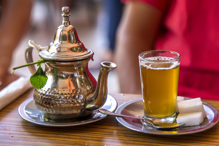 mint leaves: Moroccan tea Stock Photo