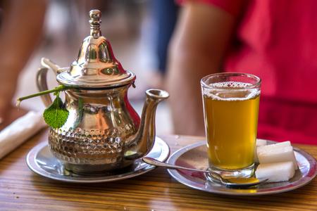 Moroccan tea Banque d'images