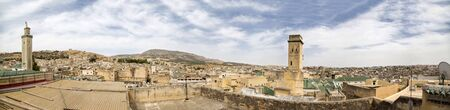 fes: Panoramic view at Fes, Morocco