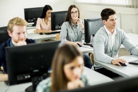 Students in the classroom Standard-Bild