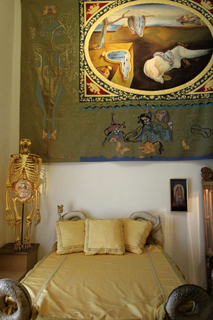 salvador dali: FIGUERES, SPAIN - JULY 27: Dalis bedroom in Dali Museum in Figueres, Spain at July 27, 2010. museum opened on September 28, 1974 and it houses the single largest and most diverse collection of works by Salvador Dali. Editorial
