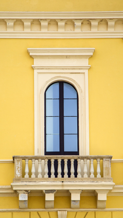 architectural architectonic: Old window from Bari, Italy