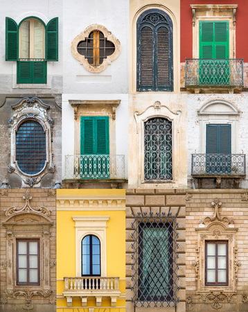bari: Old windows from Bari, Italy