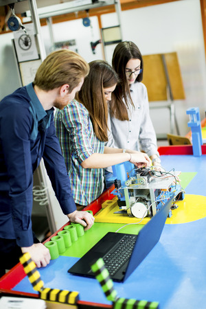 teaching adult: Young people in the robotics classroom