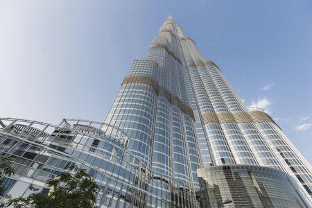 ドバイのブルジュ ・ ハリファ、ドバイ、アラブ首長国連邦 - 2015 年 5 月 7 日: ビュー。この超高層ビルは、828 m で史上最も高い建造物です。 報道画像