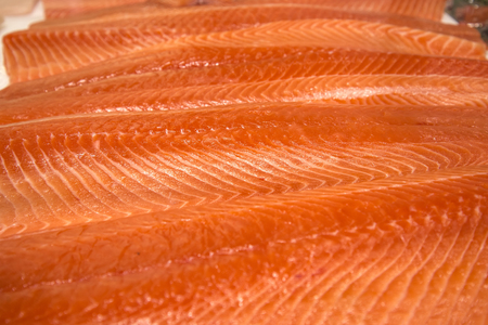 salmon filet: Salmon filet on the market in Sydney