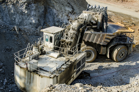 open pit: Open pit machinery Stock Photo