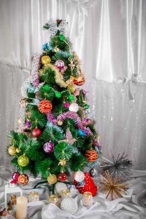 xmass: Christmas decorated tree