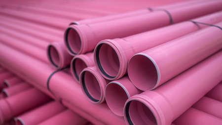 plastic pipe: Plastic pipe Stock Photo