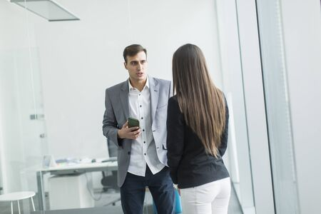 team business: Young people in the office Stock Photo