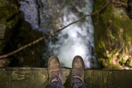 the edge: Man on the edge