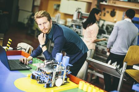 robotics: Young people in the robotics classroom