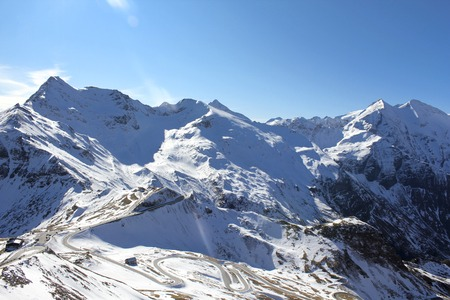 grossglockner: View at Grossglockner glacier in the Alps