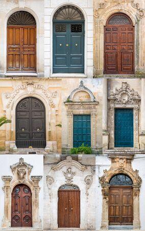 puertas antiguas: Las puertas viejas de Bari, Italia