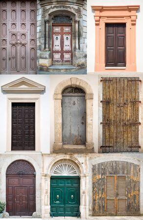 bari: Old doors from Bari, Italy Stock Photo