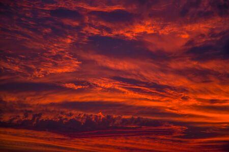 red sky: Red sky
