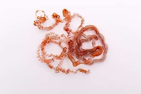 metalic: Closeup of the metalic spring