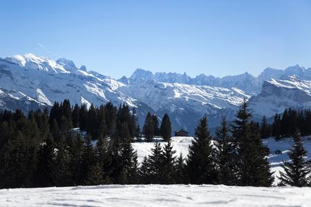 soleil: Portes du Soleil in French Alps Stock Photo
