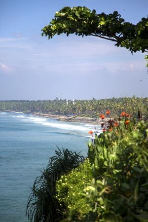 varkala: Sea in Varkala in Kerala state, India