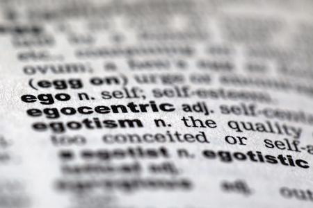 egocentric: Dictionary details