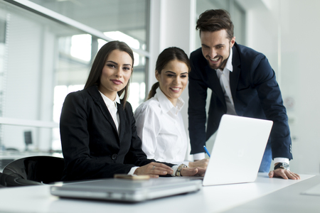Young people working in the office