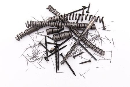 metalic: Closeup of the metalic spring and screws