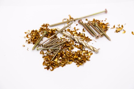 shavings: Metal shavings and screws