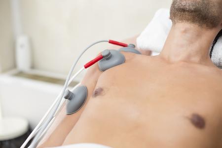 fisioterapia: Paciente en la fisioterapia Foto de archivo
