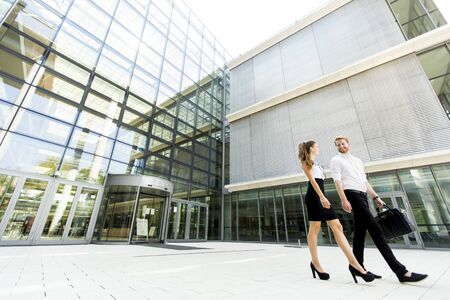 corporate building: Young business people Stock Photo