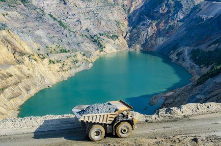 open pit: Open pit mine Stock Photo
