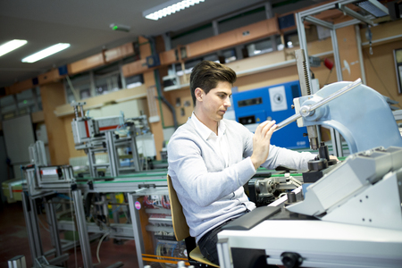 electronics industry: Engineer in the factory