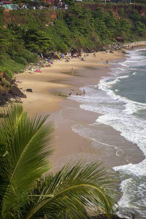 varkala: Beach in Varkala in Kerala state, India